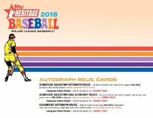 2018 Topps Heritage Fact Sheet