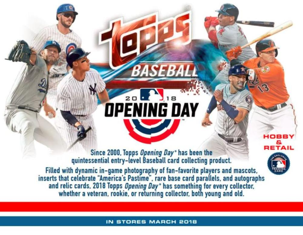 2018 Topps Opening Day Baseball Hobby Box 30