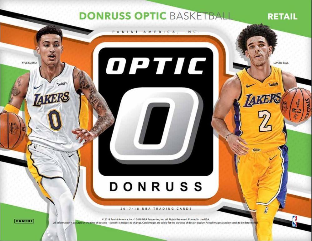 2017 18 Donruss Optic Basketball Blaster Box