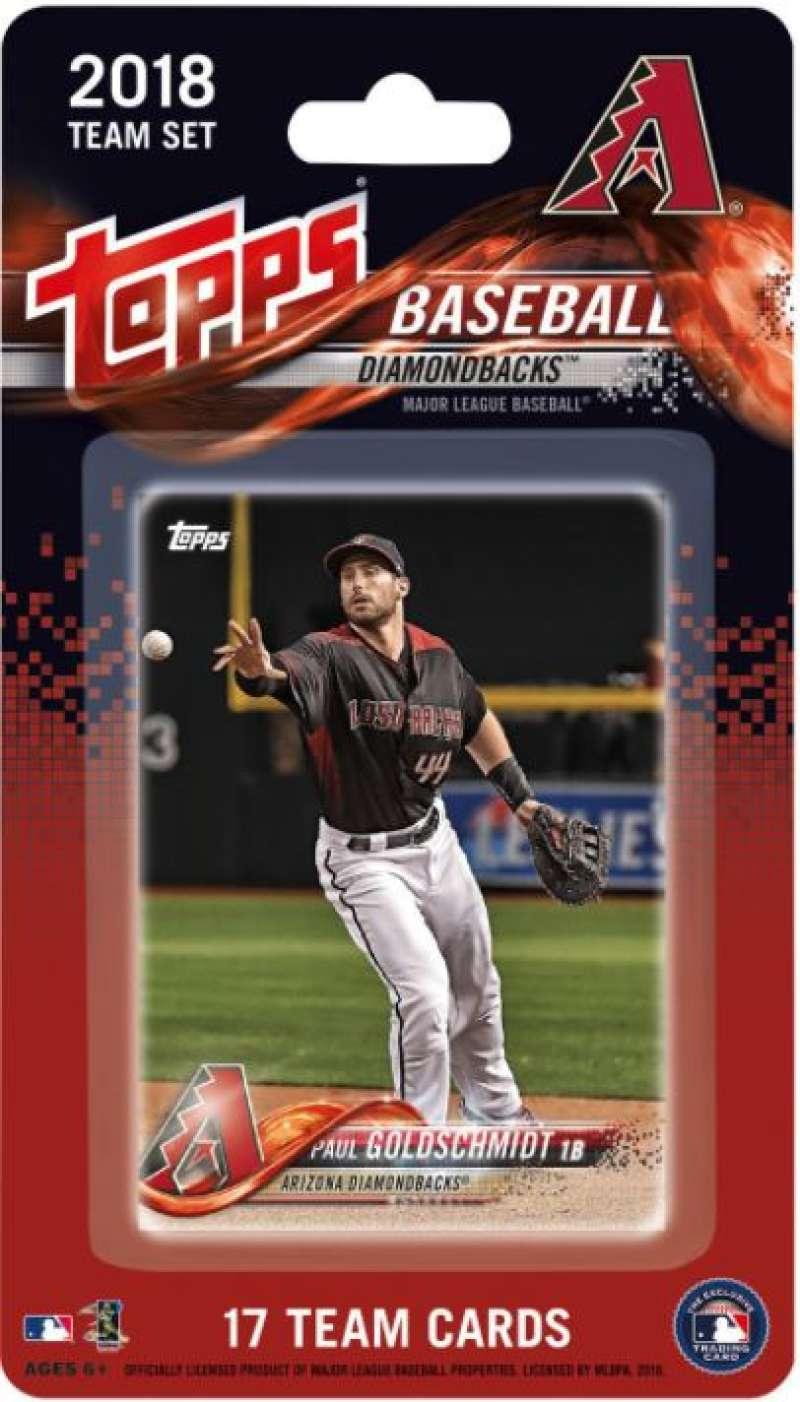 2018 Topps Baseball Arizona Diamondbacks Factory Team Set