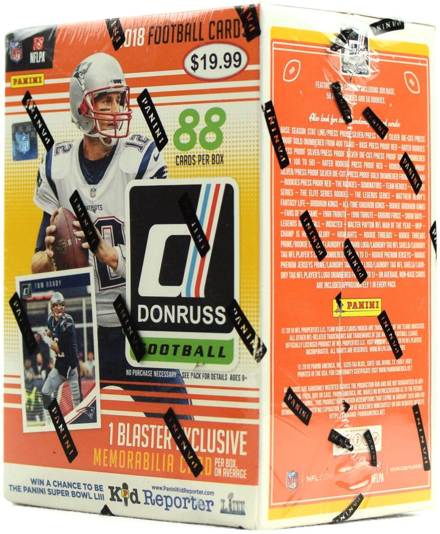 4007f83c 2018 Donruss Football Blaster Box