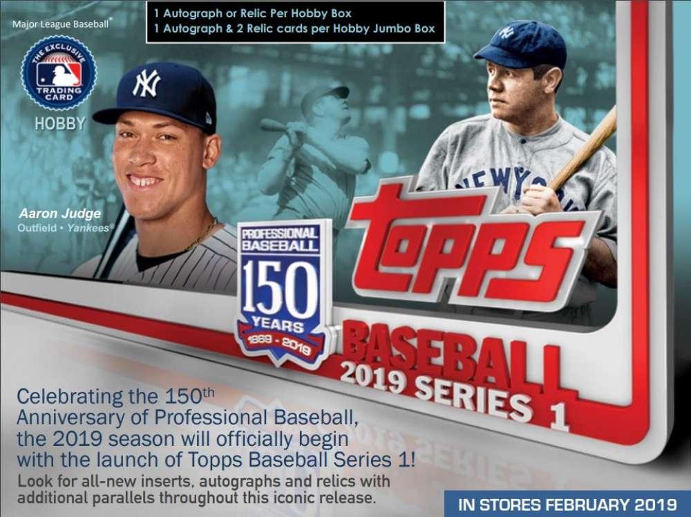 2019 Topps Series 1 Baseball Hobby Box 1 Silver Pack