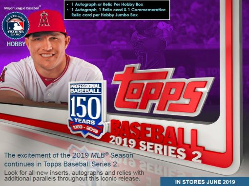 2019 Topps Series 2 Baseball Hobby With 1 Silver Pack