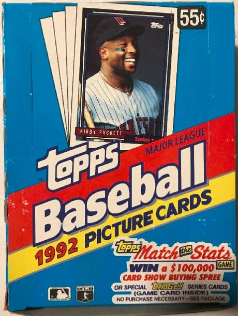 1992 Topps Baseball Hobby Box