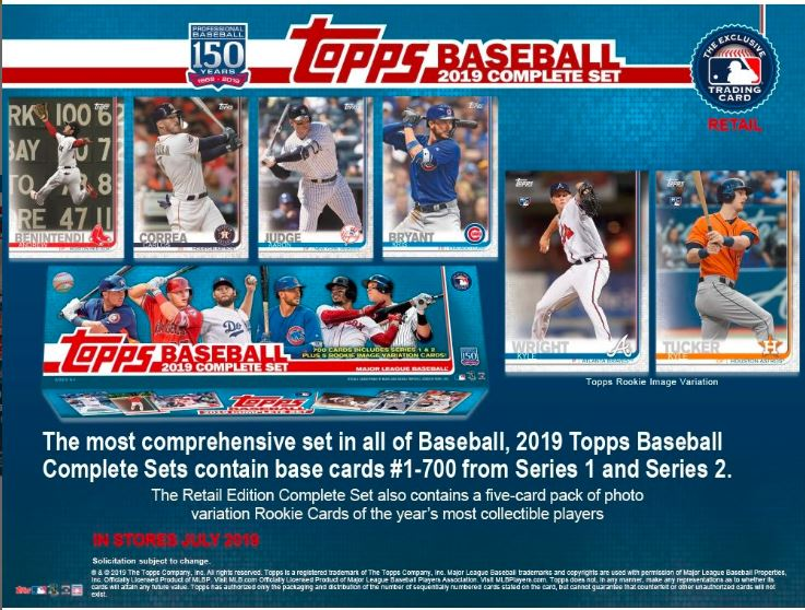 2019 Topps Baseball Cards Retail Factory Set