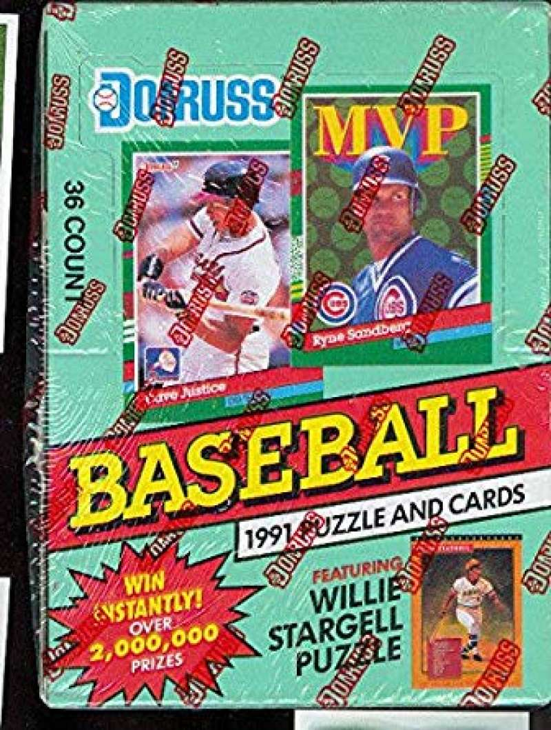 1991 Donruss Baseball Series 1 Hobby Box Green