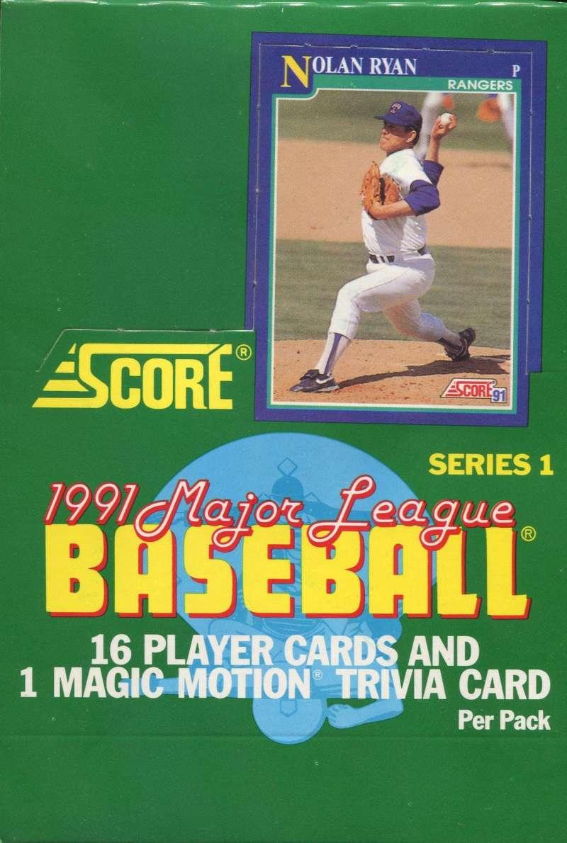 1991 Score Baseball Series 1 Hobby Box