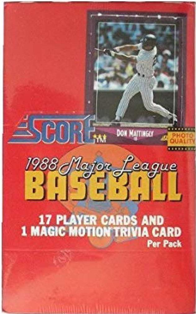 1988 Score Baseball Box