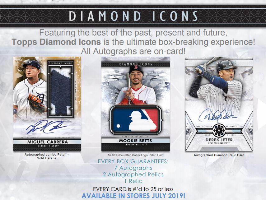 2019 Diamond Icons Baseball Hobby