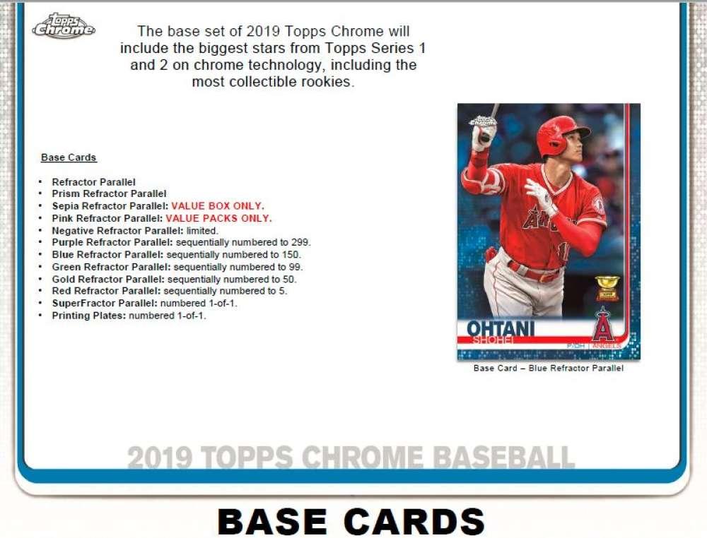 2019 Topps Chrome Baseball Value Packs Case