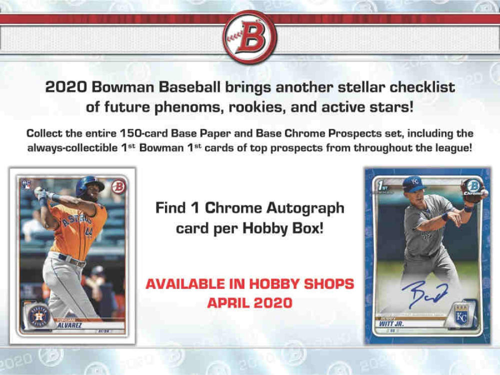 2020 Bowman Baseball Hobby Box Got Baseball Cards Of Georgia 770 736 9998