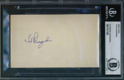 Ted Kluszewski Autographed Index Card BAS Authenticated