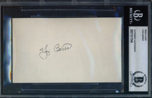 Yogi Berra Autographed Index Card BAS Authenticated