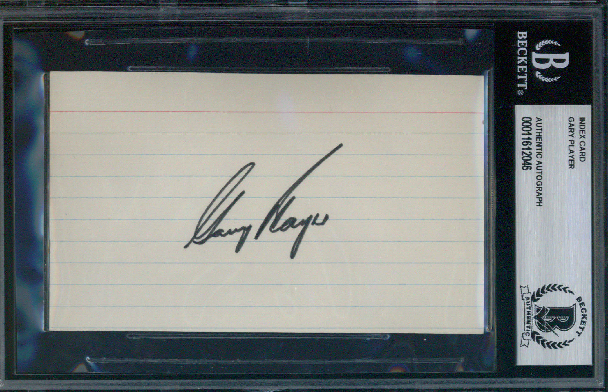 Gary Player Autographed Index Card BAS Authenticated