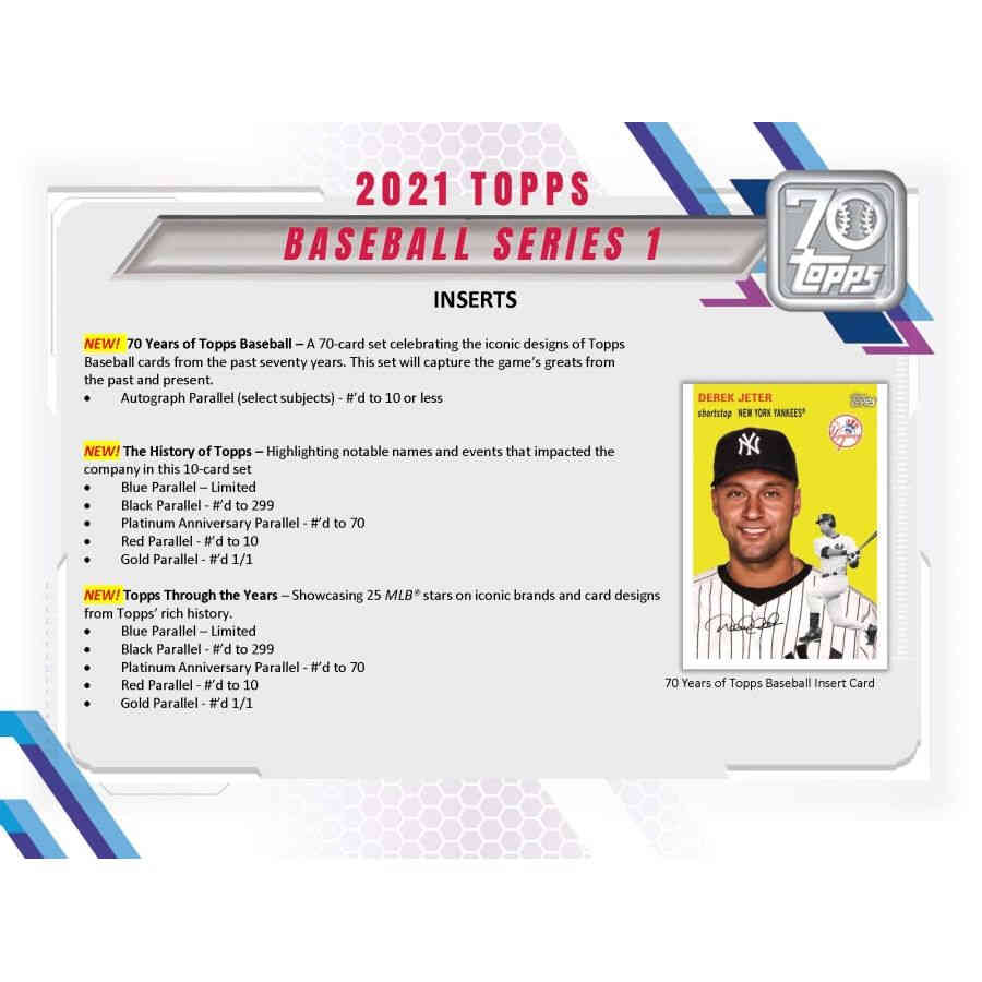 2021 Topps Series 1 Baseball Retail Display Box