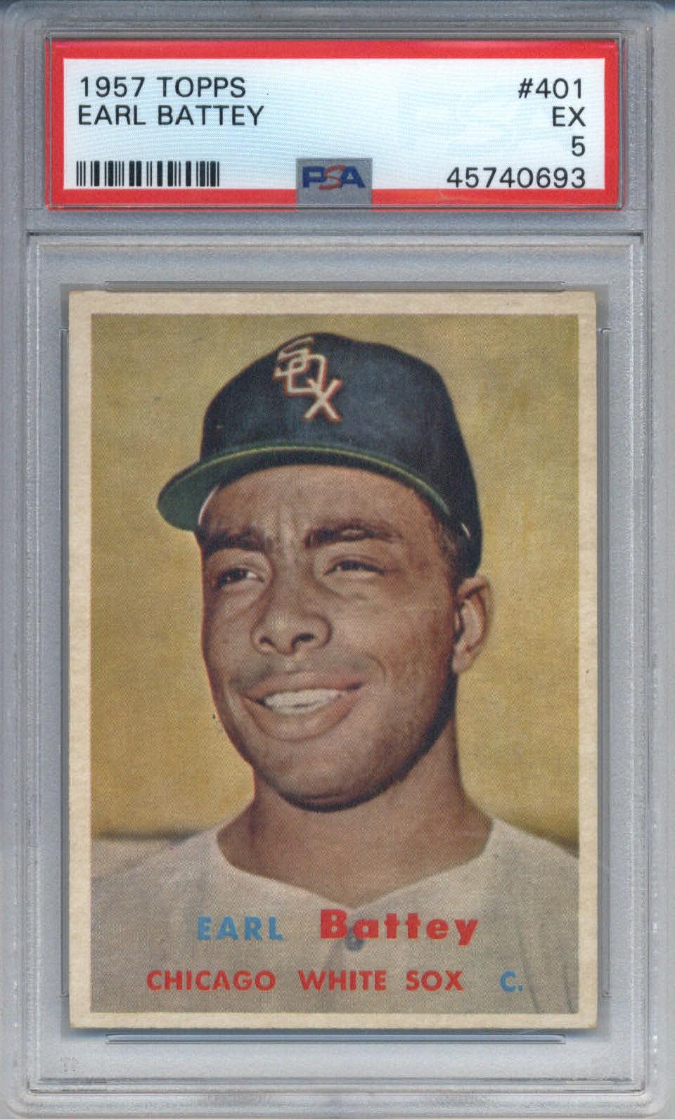 1957 Topps #401 Earl Battey PSA 5