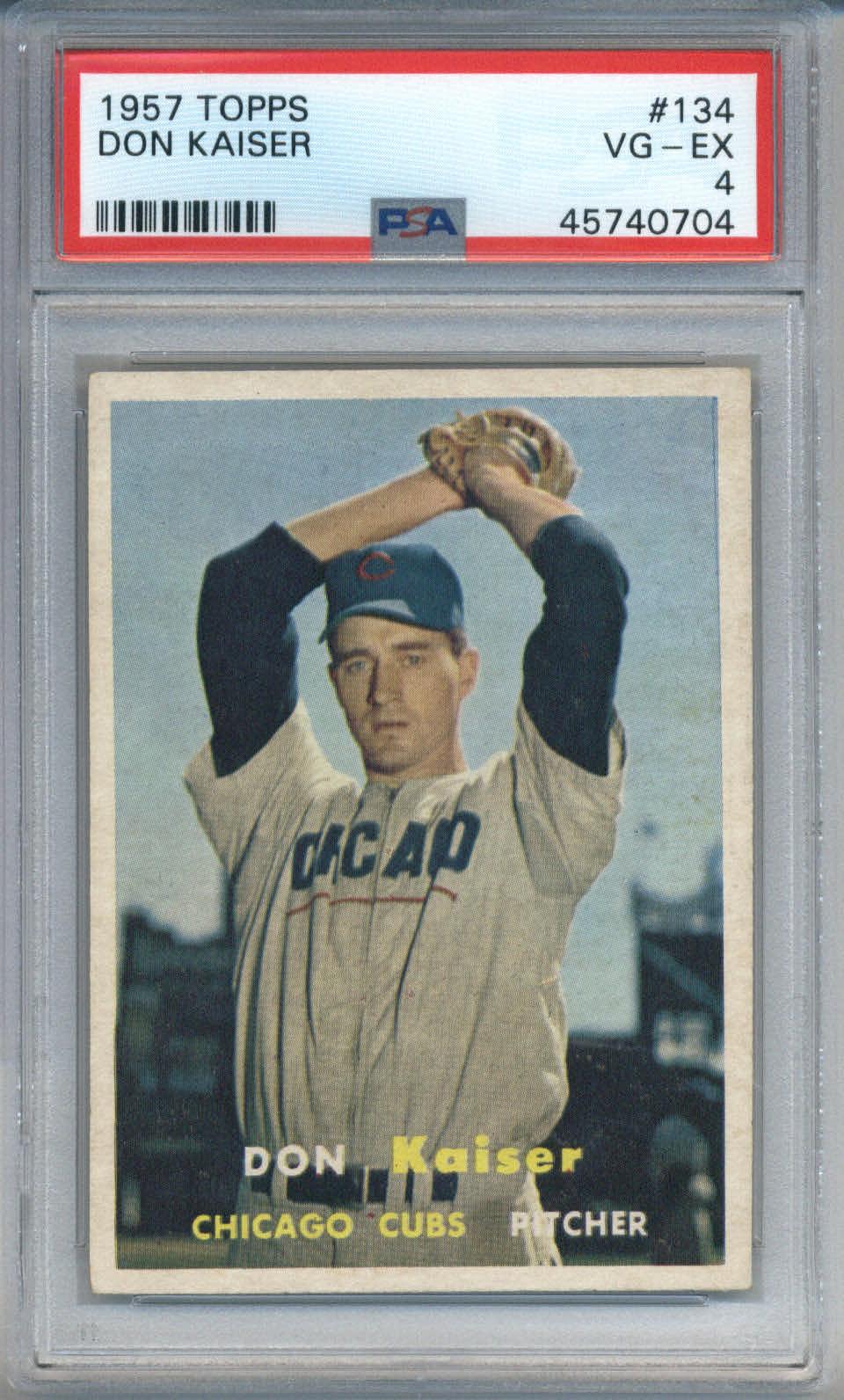 1957 Topps #134 Don Kaiser PSA 4
