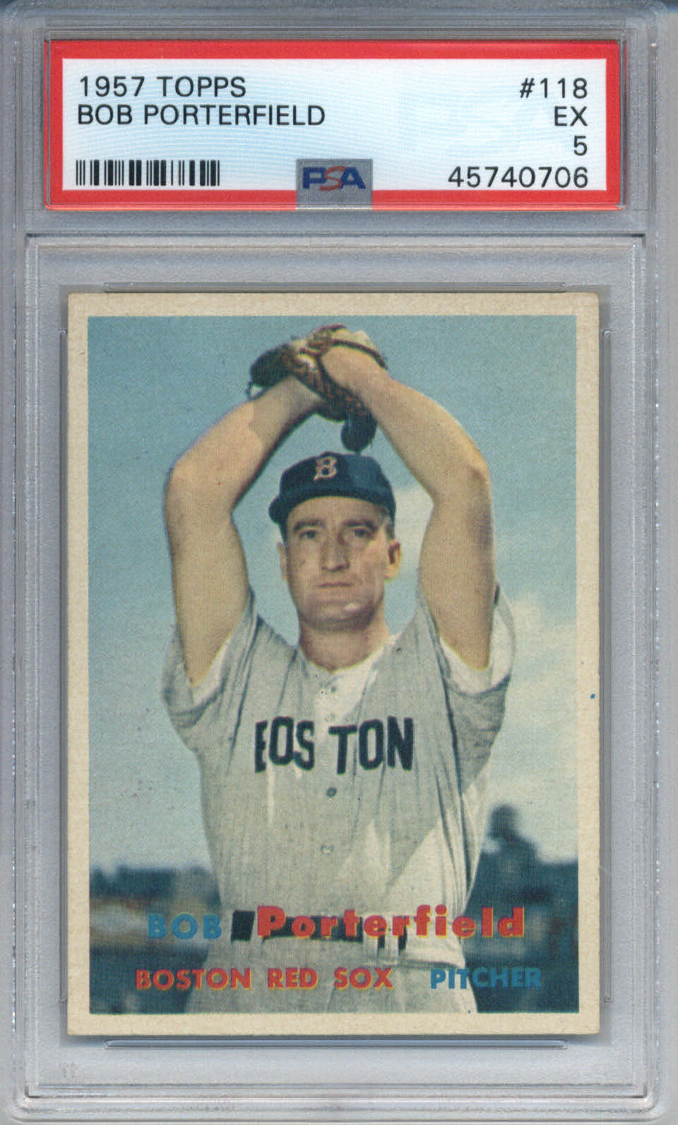 1957 Topps #118 Bob Porterfield PSA 5