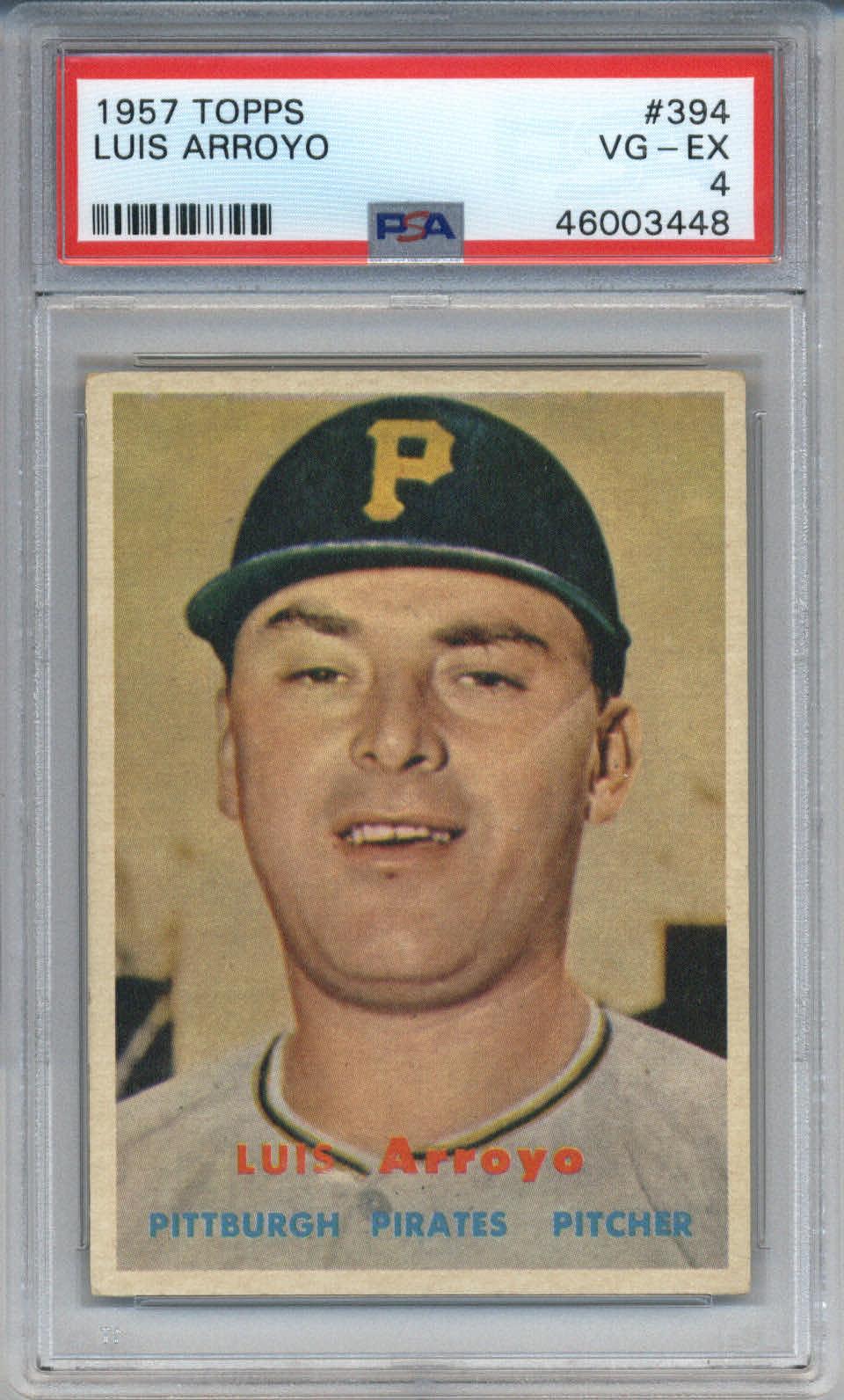 1957 Topps #394 Luis Arroyo PSA 4