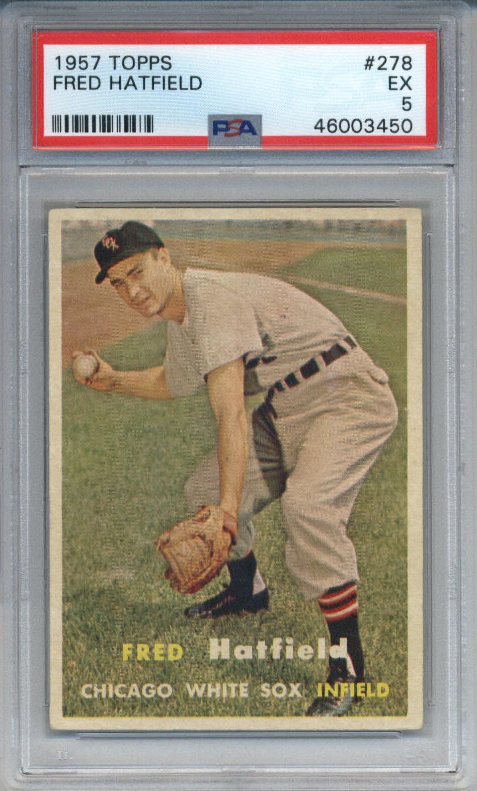 1957 Topps #278 Fred Hatfield PSA 5