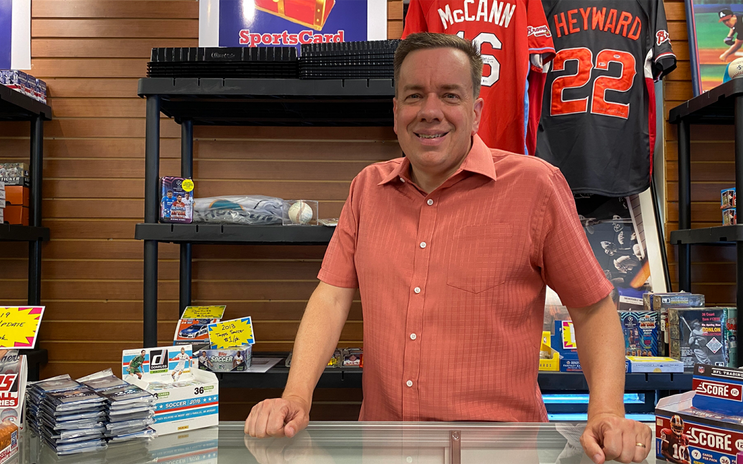 Lifelong Sports Fan Hits A Home Run with Sports Card Shop