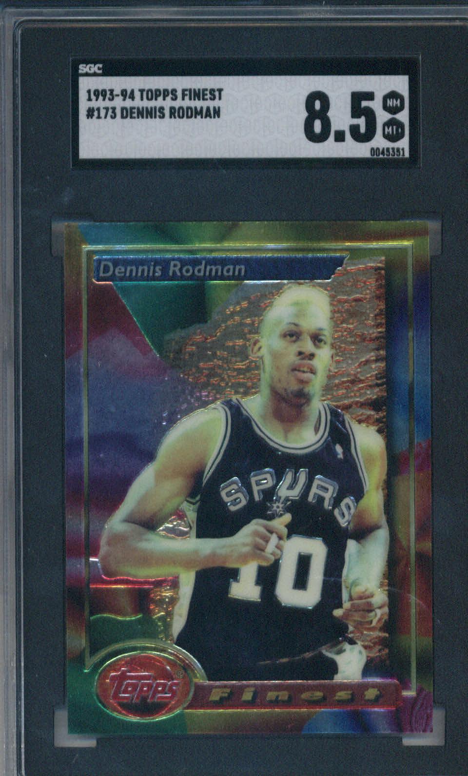 1993-94 Topps Finest #173 Dennis Rodman SGC 8.5