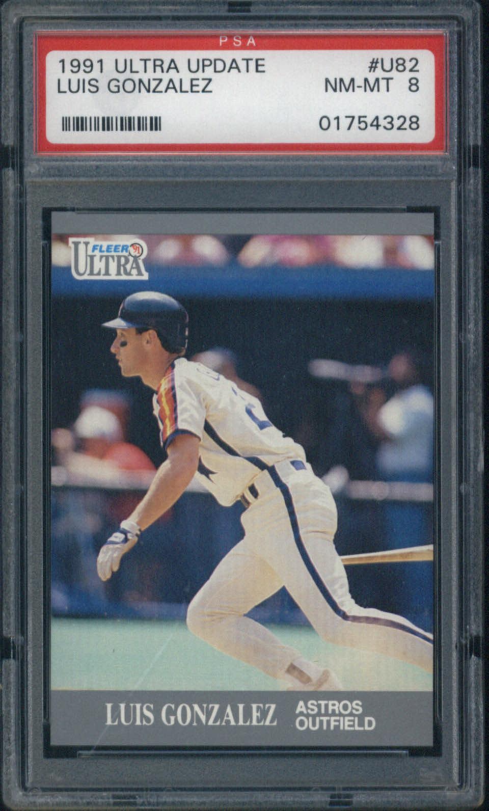 1991 Ultra Update #U82 Luis Gonzalez PSA 8