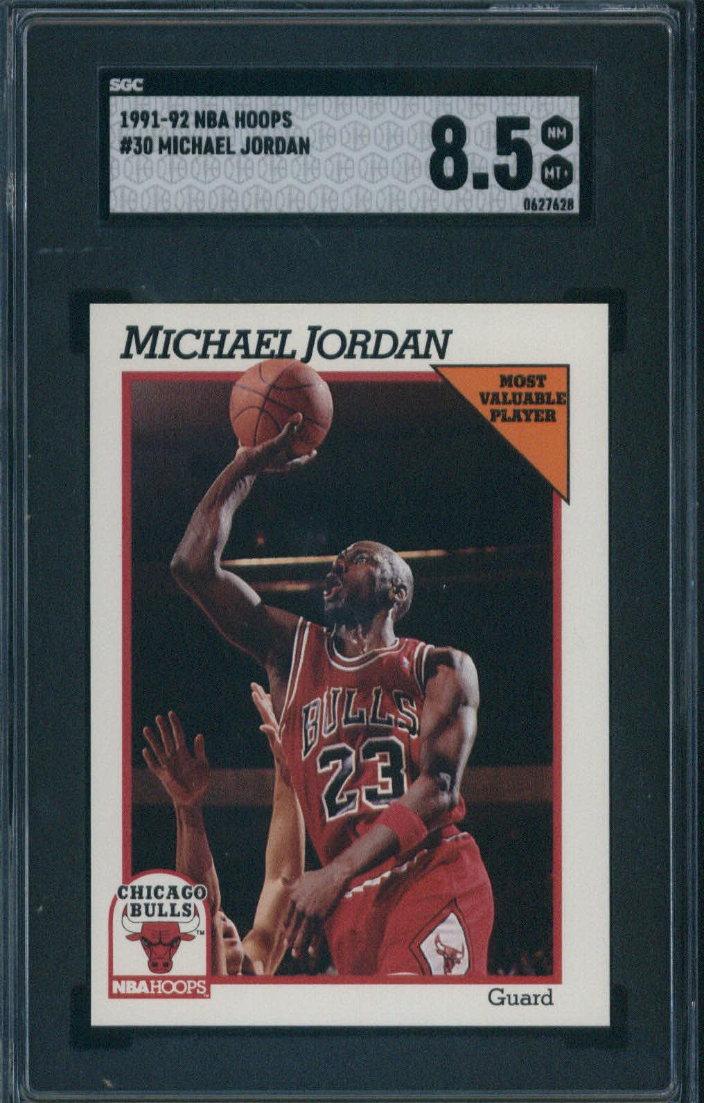 1991 NBA Hoops #30 Michael Jordan SGC 8.5