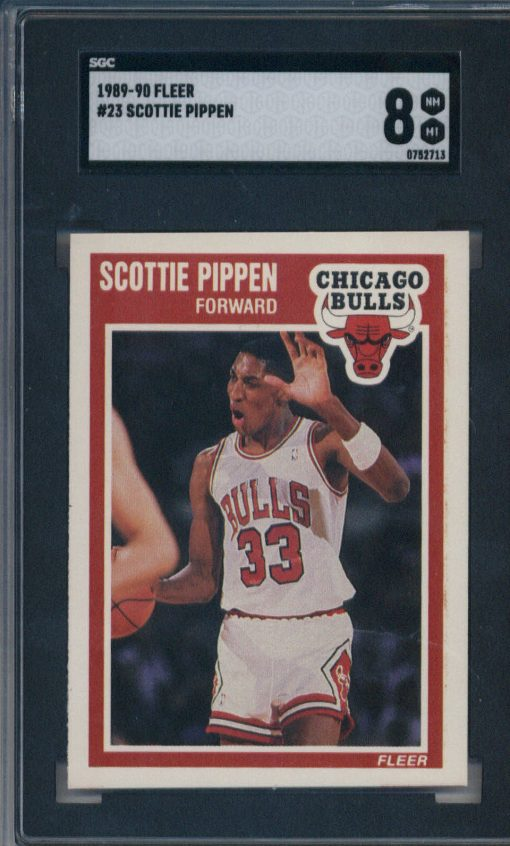 1989-90 Fleer #23 Scottie Pippen SGC 8