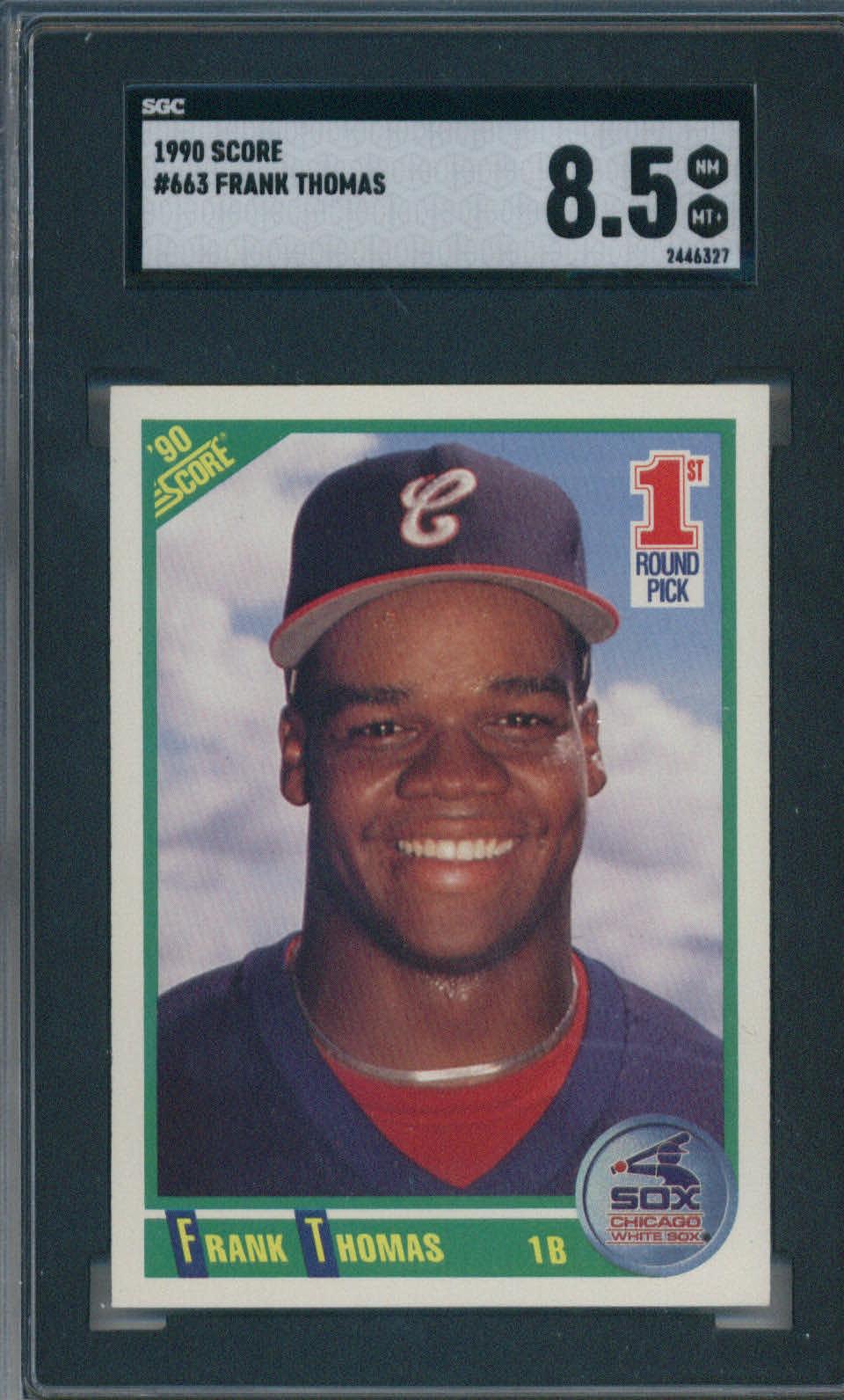 1990 Score #663 Frank Thomas SGC 8.5