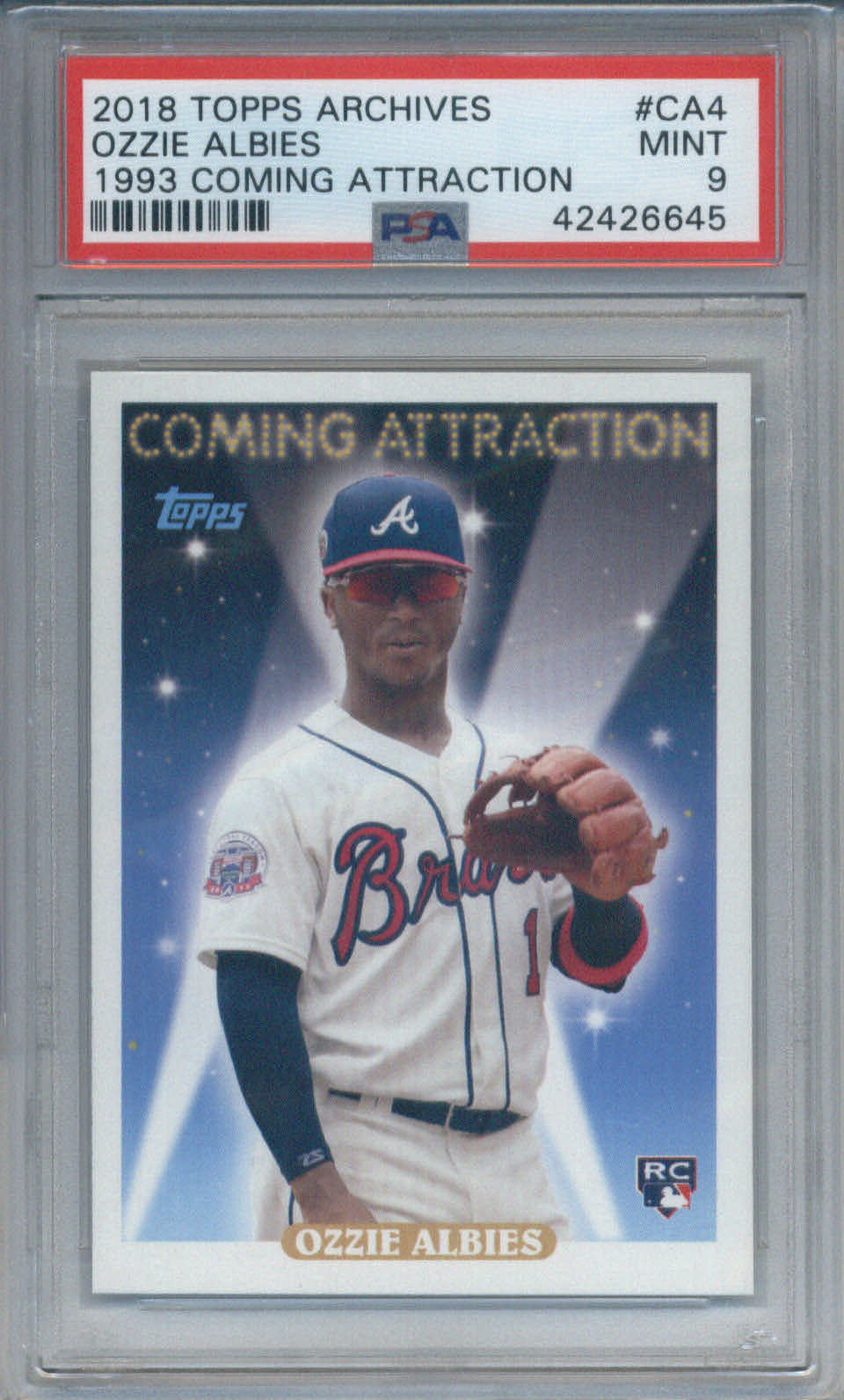 2018 Topps Archives 1993 Coming Attraction RC #CA4 Ozzie Albies PSA 9