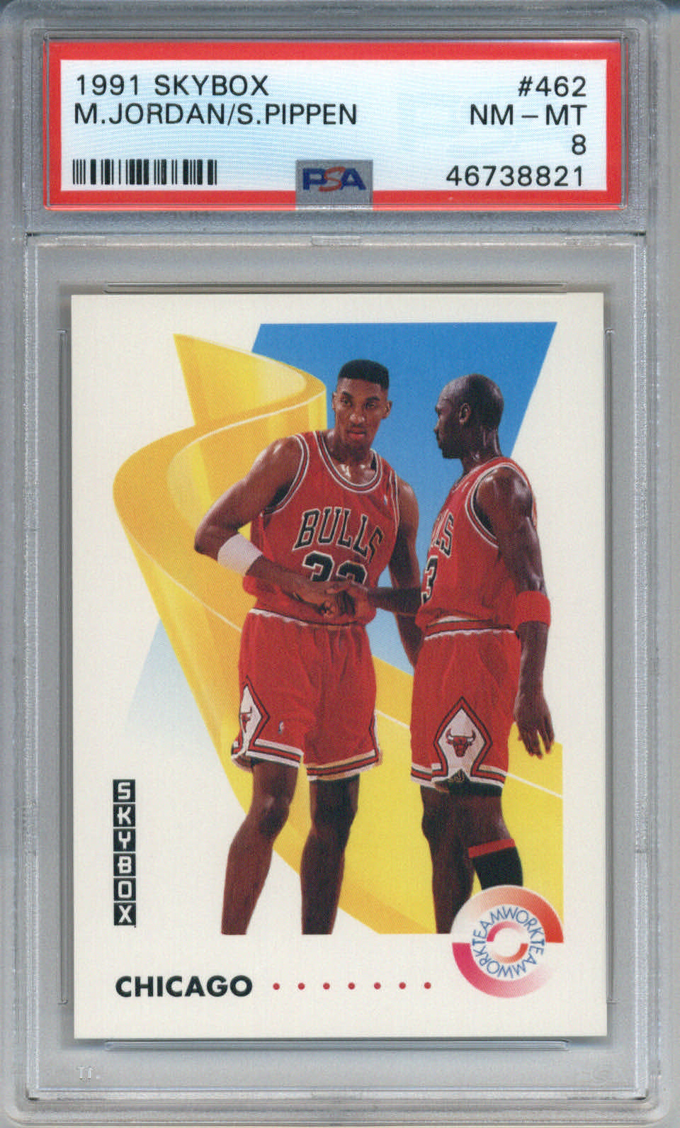 1991 Skybox #462 Michael Jordan/Scottie Pippen PSA 8