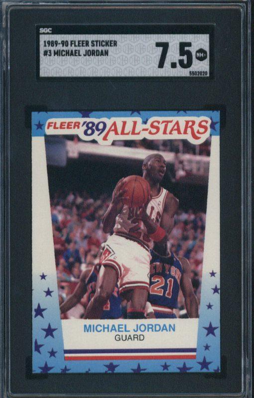 1989 Fleer Sticker #3 Michael Jordan SGC 7.5