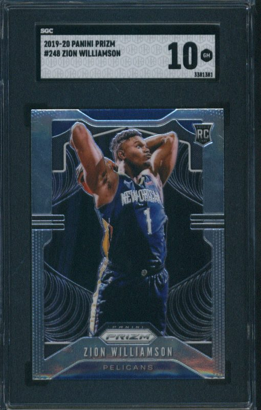 2019-20 Panini Prizm Zion Williamson #248 SGC 10