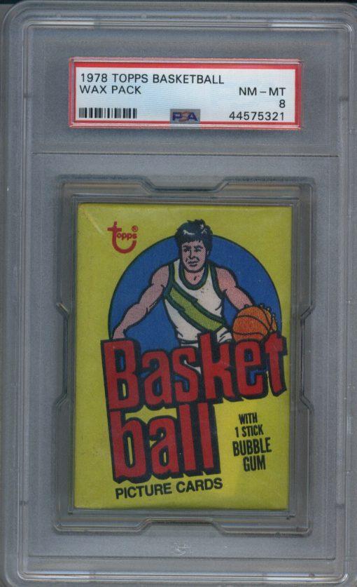 1978 Topps Basketball Wax Pack PSA 8