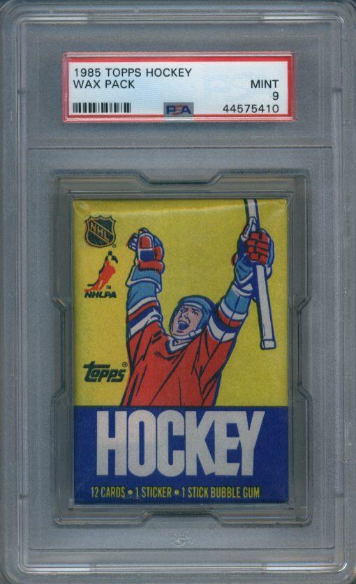 1985 Topps Hockey Wax Pack PSA 9
