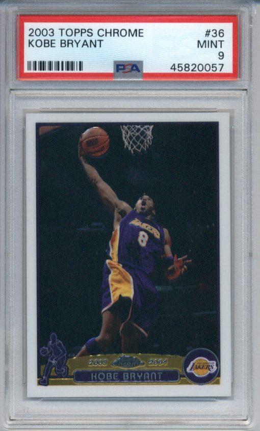 2003-04 Topps Chrome Kobe Bryant #36 PSA 9