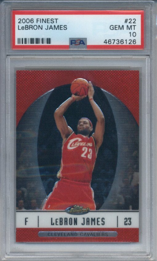 2006-07 Finest LeBron James #22 PSA 10
