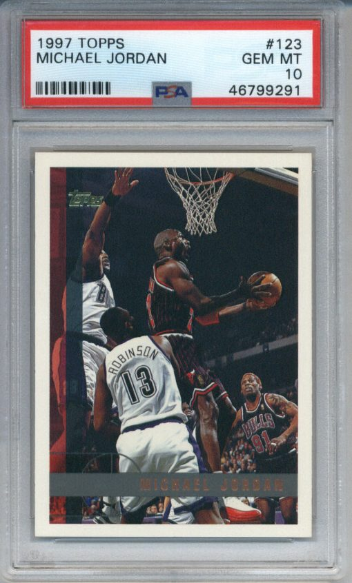 1997-98 Topps Michael Jordan #123 PSA 10