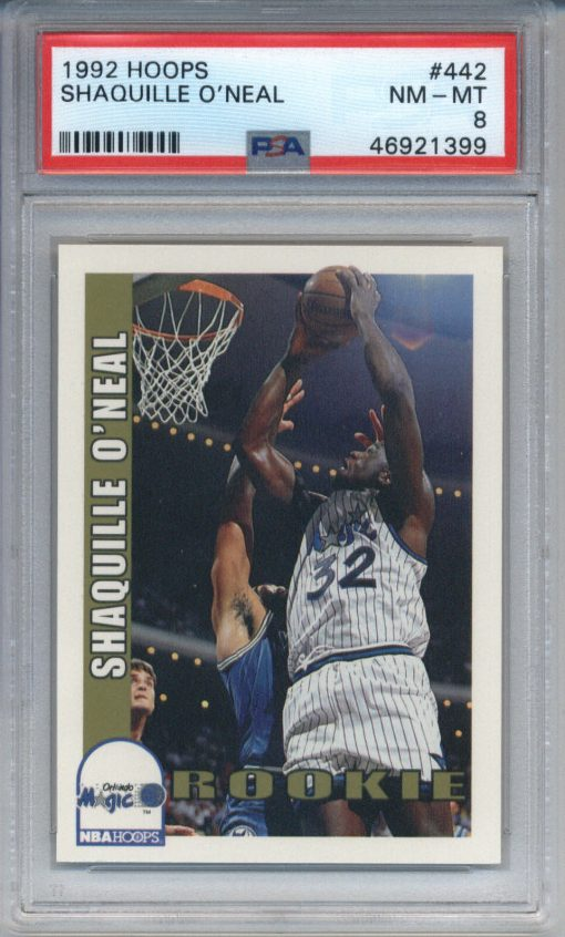 1992-93 Hoops Shaquille O'Neal #442 PSA 8