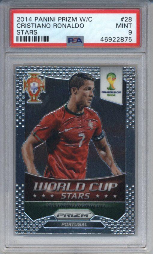2014 Panini Prizm World Cup Stars Cristiano Ronaldo #28 PSA 9