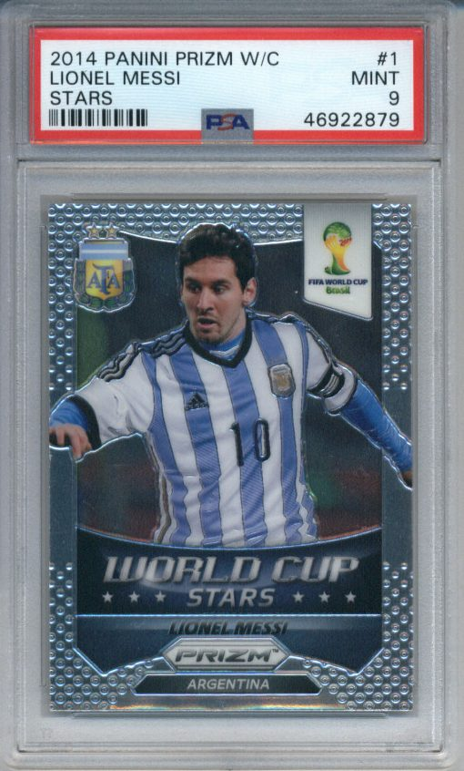 2014 Panini Prizm World Cup Stars Lionel Messi #1 PSA 9