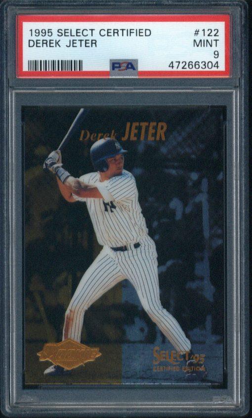 1995 Panini Select Certified Rookie Derek Jeter #122 PSA 9
