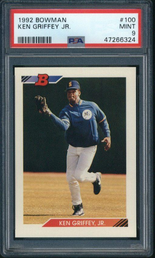 1992 Bowman Ken Griffey Jr. #100 PSA 9