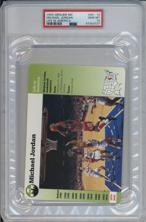 1995 Grolier Life in America Michael Jordan #24-12 PSA 10