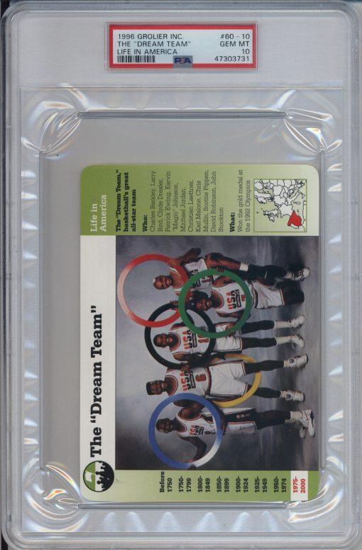 "1996 Grolier Life in America ""The Dream Team"" #60-10 PSA 10"