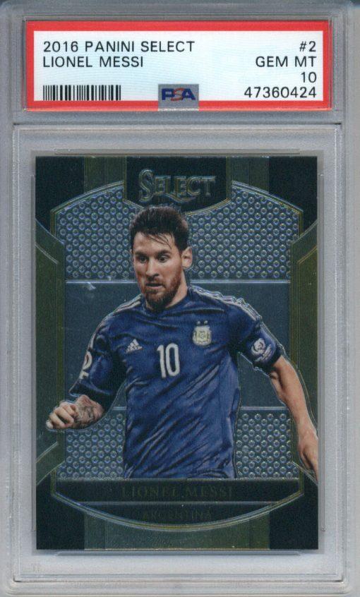 2016-17 Panini Select Lionel Messi #2 PSA 10
