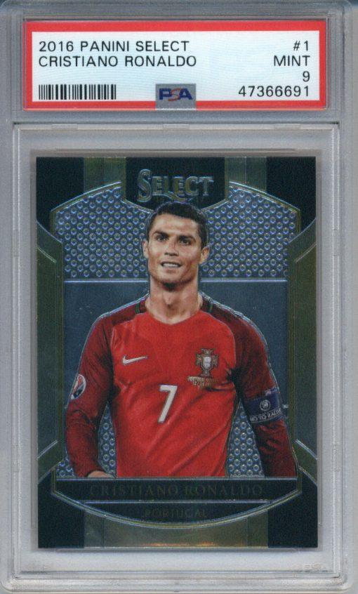 2016-17 Panini Select Cristiano Ronaldo #1 PSA 9