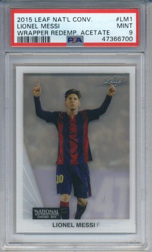 2015 Leaf National Convention Wrapper Acetate Lionel Messi #LM1 PSA 9