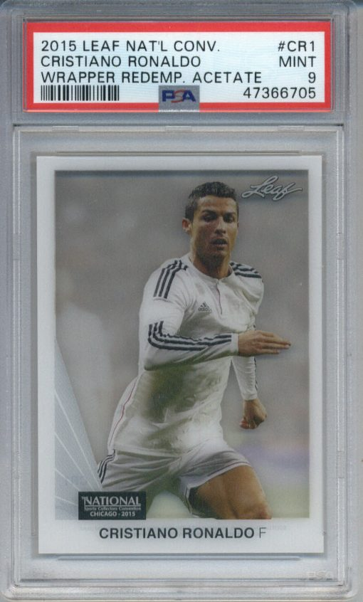 2015 Leaf National Convention Wrapper Acetate Cristiano Ronaldo #CR1 PSA 9
